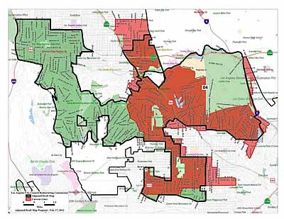 Council District 4 redistricting map